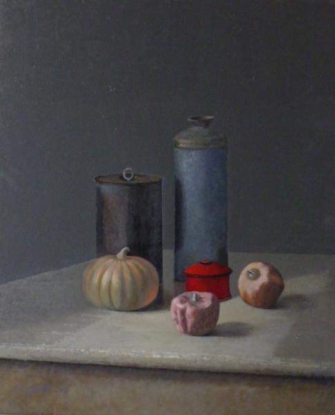Six objets sur la table, 73/60 cm, 2015.